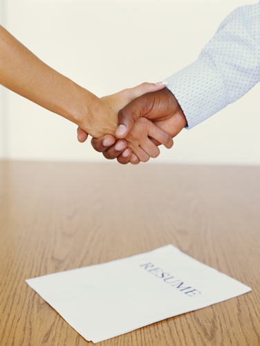 updating your resume could lead to the handshake at hiring