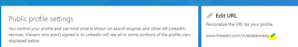 Customizing your LinkedIn Profile URL
