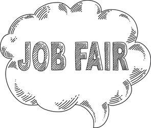 Job Fair thought bubble