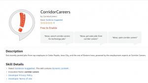 Corridor Careers Alexa Skill