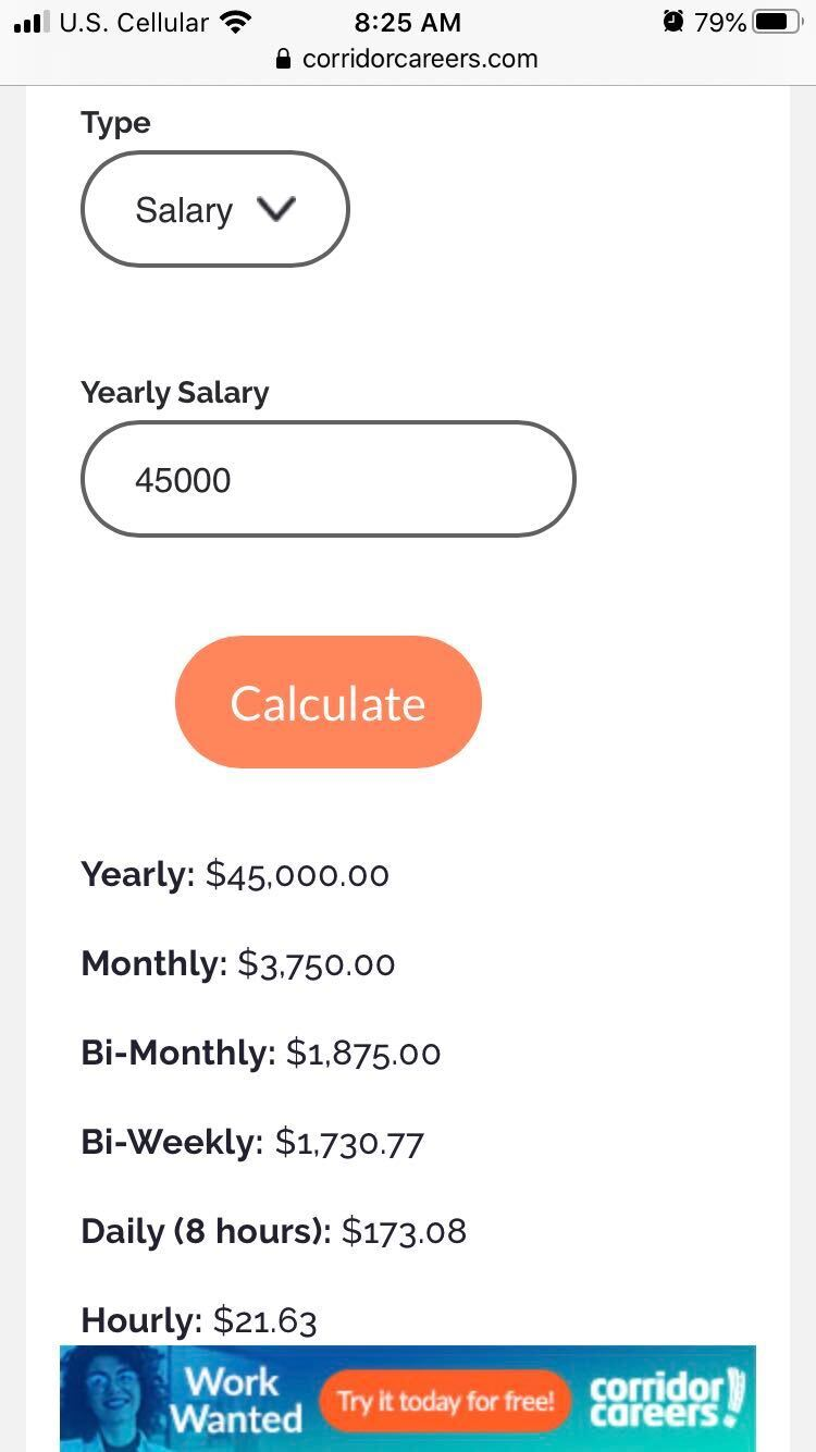 Salary Calculator on c